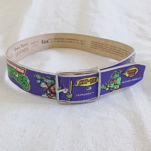 Vintage Teenage Mutant Ninja Turtles Leather Belt